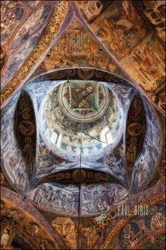 Bukovina painted  monasteries- Romaina      © Copyright Paul Biris Ceilings, Genealogy, Heavenly, Catholic, Spirituality, Europe, Tours, Interiors, Places