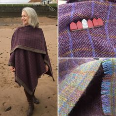 Wrap made from Shetland  tweed bought at Jamiesons Mill.