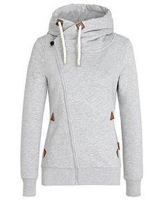 minimal grey hoodie //nice detailing