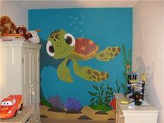 Muurschildering, Babykamer, Kinderkamer, Uilen, Uiltjes, Geboortekaartje, Naam
