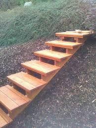 Image result for schody v záhrade