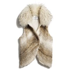 Mink Vest ($6,850) ❤ liked on Polyvore