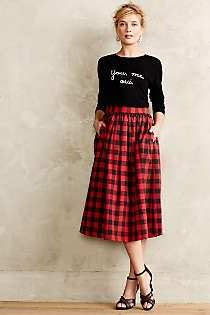 Buffalo Plaid Midi Skirt - graphic designed custom t shirts Midi Rock Outfit, Midi Skirt Outfit, Skirt Outfits, Cute Outfits, Modest Fashion, Fashion Outfits, Womens Fashion, Fall Winter Outfits, Autumn Winter Fashion