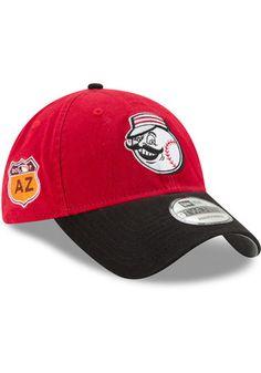 New Era Cincinnati Reds Mens Red 2017 Spring Training 9FORTY Adjustable Hat