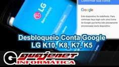 LG K7, K8, K10 Bypass, desbloquear ou remover conta Google - Sem computa...