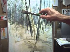 Oil Painting demo with Mike Pintar_ How to paint snow and trees
