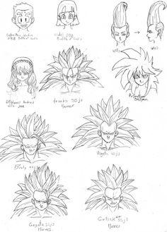 cabelleras videl, krilin BoB, wills y ssj3 heroes by rasec-dragon-91.deviantart.com on @DeviantArt