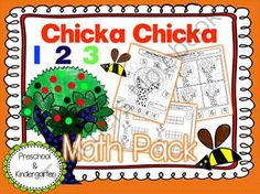Chicka Chicka 123 Math Unit: Kindergarten from LearningParade on TeachersNotebook.com -  (53 pages)  - Add some math fun to your Chicka Chicka 123 kinder unit with these easy to follow activities!
