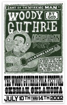 Woody Guthrie 2 by ChurchofType on Etsy