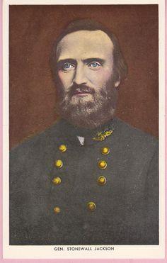 Vintage Gen. Stonewall Jackson Art Postcard  by pecanhillpostcards, $4.99