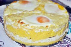 taci-si-inghite - o caopedopera a bucatariei romanesti din Ardeal Fish And Eggs Recipe, Timbale Recipe, Romania Food, Tapas, Frittata, Polenta Recipes, Good Food, Yummy Food, Pastry Cake