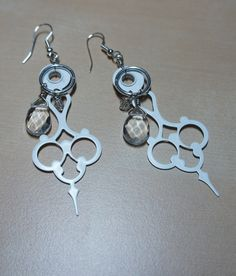 FOR SALE in my shop!  One and only! Watch Hand Earrings by LCBeads2wear on Etsy, $25.00