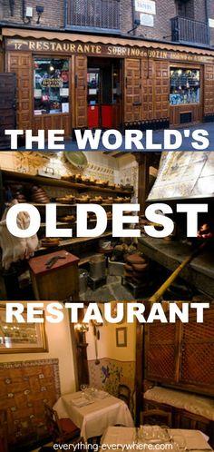 Sobrino de Botín: The World's Oldest Restaurant