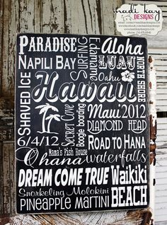 Personalized Family Vacation Memories, Personalized Subway Art Sign, Destination Wedding Sign, Family Memories, Family Trip, Hawaii, Europe on Etsy, $139.99
