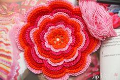 Colorful crochet Jip by Jan Flower