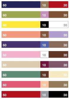 60/30/10 color rule for weaving, or really, for anything! And then read this: Apply the 60 - 30 - 10 rule for success