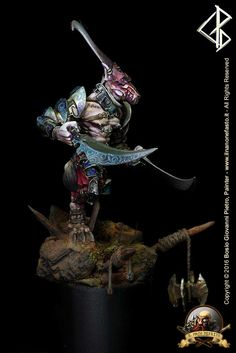 Master of Carnage Devourer of Vile Tis. Cinfrontation Rackham miniature painted by IlNanoNefasto