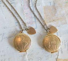 Map Locket Pendant Gold World Map Pendant Globe Necklace Eastern Hemisphere Western Hemisphere Travel Gift Wanderlust Graduation Gift