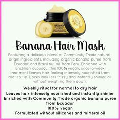 Best Body Shop Products, Curl Products, Body Shop At Home, The Body Shop, Best Diy Hair Mask, Body Shop Skincare, Banana Hair Mask, Healthy Skin Tips, Body Bars