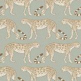Cole & Son Leopard Walk Olive / White Wallpaper