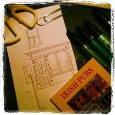 Sketch Pub Design, Art Sketches, Sketching, Irish, English, Architecture, Illustration, Arquitetura, Irish Language