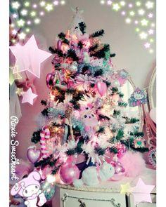 pastel christmas trees | Tumblr