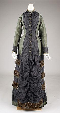 Dress, Date: 1877–79 Culture: British Medium: silk  Metropolitan Museum of Art  Accession Number: C.I.37.46.60