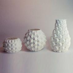Modern Style Geometric Decor , Geometric Vase , Dodecahedron Plastic ornamental…