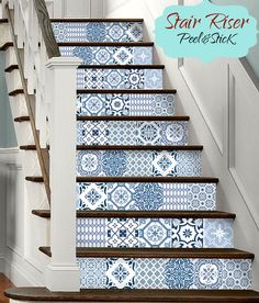 15steps stair riser vinyl strips removable sticker peel for Bande adhesive decorative