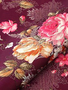 Memory of Peonies Silk Brocade Fabric