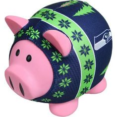 Forever Collectibles NFL Sweater Piggy Bank, Seattle Seahawks, Green
