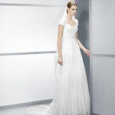 Áčkový střih Elegantní & luxusní Krajka Levné svatební šaty