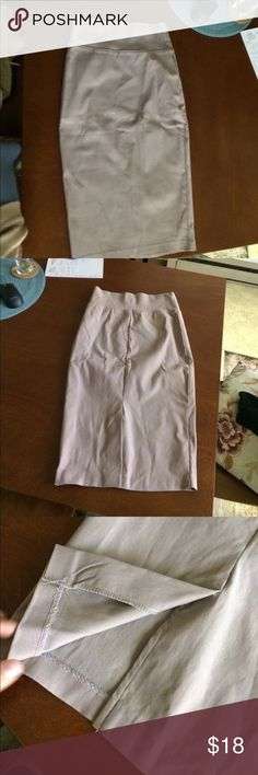High waisted pencil skirt- stretchy High waisted pencil skirt. The material is stretchy. It's very flattering for the hips and booty. Charlotte Russe Skirts Pencil