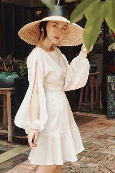 Korean Fashion Tomboy, Korean Fashion Dress, Korean Fashion Summer, Korean Street Fashion, Summer Fashion Outfits, Italy Fashion, Dress Hats, Minimalist Fashion, Dress Patterns