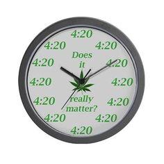 4:20 Wall Clock on CafePress.com