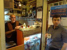 Herbaciarnia na teherańskim bazarze