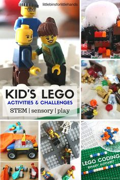 Kid's LEGO activities and building ideas for science, math, literacy, sensory play, and STEM. LEGO activities perfect for kindergarten thorough grade school age kids.