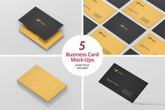 Business Card Mock-Ups by Viscon Design on Creative Market