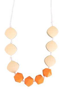 Earth Tones Orange Zahnen-Halskette