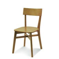 Cadeira Bell 3717 Sem Braco Cor Castanho Nogueira.      - Em madeira 100% ecológica; - Encosto Multi-laminado de pinus; - Acabamento em verniz PU.