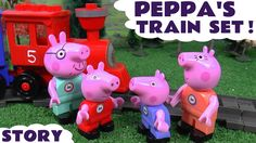 Peppa Pig Toy Train Construction Set Play Doh Duplo Thomas and Friends T...