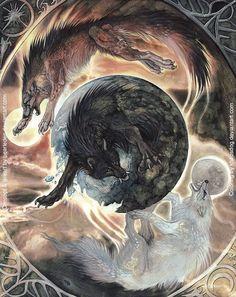 Mtg art the wheel of sun and moon