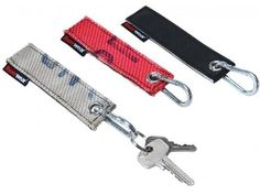 Key chain made from recycled fire hose