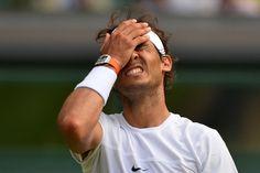 02.07 La saison noire continue pour Nadal, éliminé au 2e tour de Wimbledon par Dustin Brown, 102e mondial et issu des qualifications.Photo: Glyn Kirk