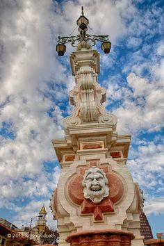 Giralda & Seville Fountain in KC Plaza. Kansas City - sister city to Sevilla, Spain.
