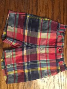 Polo Ralph Lauren Toddler Boys Size 18 Months Madras Plaid Shorts Worn 1 Time | eBay
