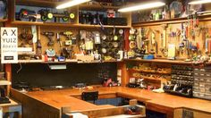 What does your hobby man-cave look like? RC workshop, workspace - Forum of last resort - General RC topics that don& fit in ANY other area @ URC Forums Workshop Studio, Garage Workshop, Reloading Room, Basement Inspiration, Basement Ideas, Maker Shop, Diy Workbench, Home Theater Rooms, Garage Makeover