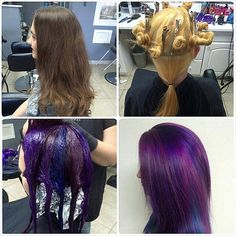 color melt pinwheel hair - Google Search