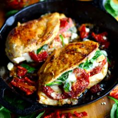 Sun Dried Tomato, Spinach, and Cheese Stuffed Chicken