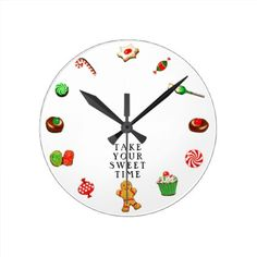 #Christmas Decor Round Clock - #giftideas for #kids #babies #children #gifts #giftidea